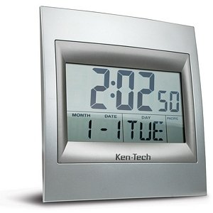 Cyberguys Ken-Tech Home Office School Decorative Large Digital Atomic Alarm Clock