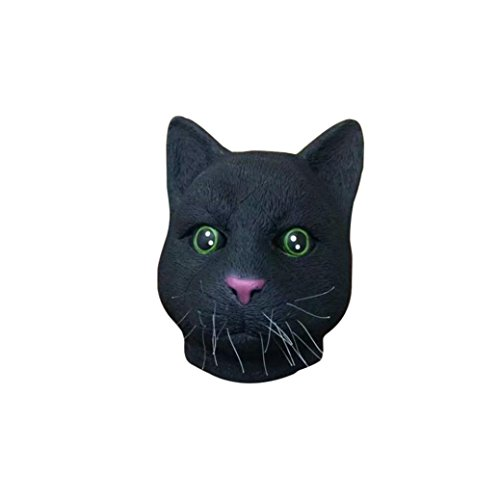 [Koolee Halloween Full Mask with Deluxe Nature Latex, Party Costume Cat Head Mask] (Jeepers Creepers 2 Costume)