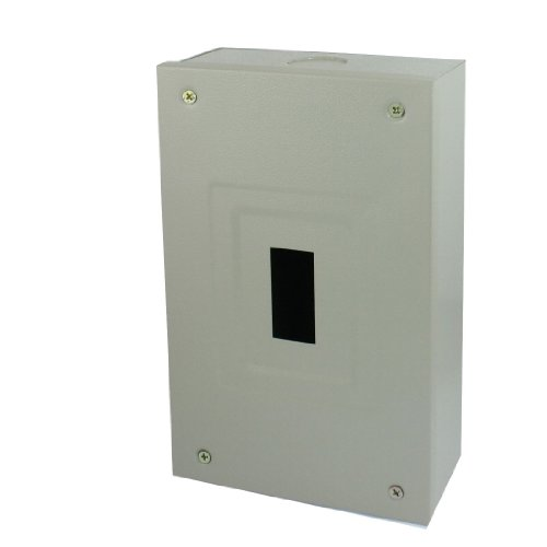 Rectangular Gray Metal Electrical Distribution Box Guard Cover