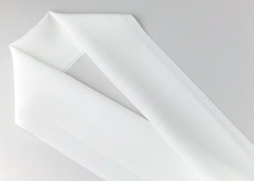 半襟 丹後産 正絹塩瀬半衿400匁(白) パールトーン加工 黄変防止加工(絹100%)日本の絹 半衿