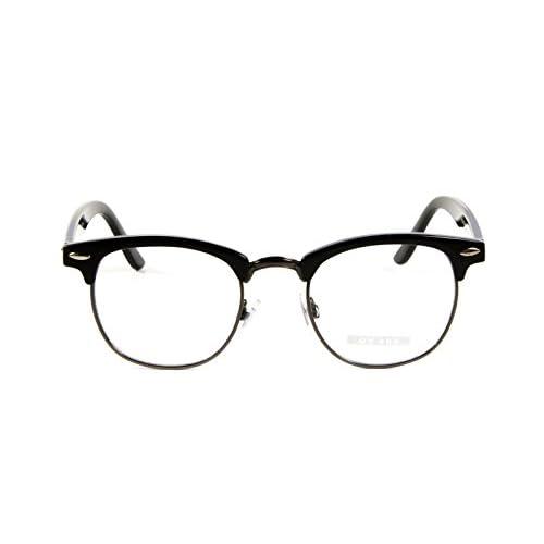 Goson Vintage Inspired Classic Half Frame Horn Rimmed Clear Lens Glasses