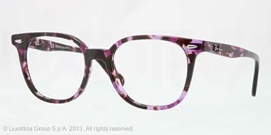 RAY BAN Monture lunettes de vue RX 5299 5210 Transparent Violet Havane 52MM    58bf6dbda493