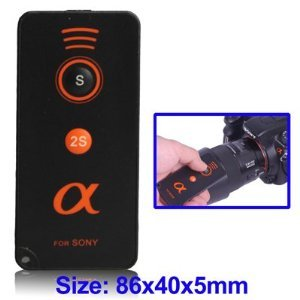 IR Wireless Telecomando a raggi infrarossi per Sony Alpha A230, A290, A330, A380, A390, A450, A550, A700, A850, A900, A55, A33, NEX-5milnolta DSLR come equivalente a irmt-dslr1-ieuro Tech