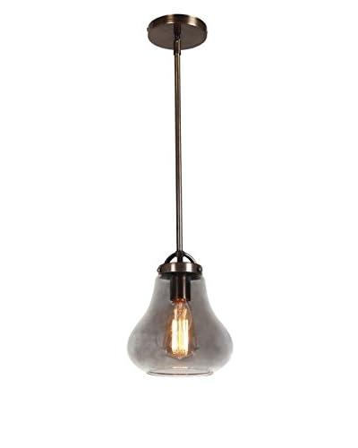 Access Lighting Flux 1-Light 8 Pendant, Dark Bronze/Smoke