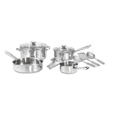 Cook and Strain 10-Piece Stainless Steel Cookware Set