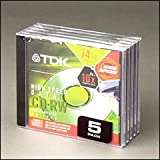TDK CDRW74 4x/650MB 74 min CD-RW Media (1-pack) (Discontinued by Manufacturer) ~ TDK