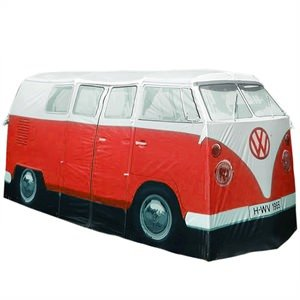 Children's Pop up 1965 Volkswagon Camper Play Tent in Red by The Monster Factory