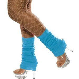 Neon Blue Leg Warmers for Adults