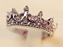 buy Ring Size: 5, South Korea Crown Ring, Imported Palace Restoring Ancient Ways The Queen Temperament Tail Wood Silver Ring, B4 R211 Sj001
