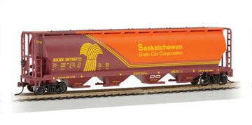 Bachmann Trains Saskatchewan- Wheat Herald 4 Bay Cylindrical Grain Hopper