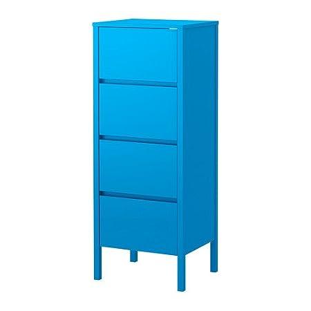 IKEA Nordli - Cómoda de 4 cajones, azul - 48x125 cm