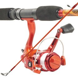 South Bend Worm Gear Fishing Rod & Spinning Reel (Orange) Co