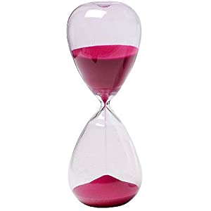 Lot Of 2 1 Hr. Hourglass Sand Timer Rose 10""
