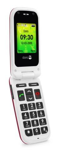 Doro PhoneEasy 410gsm inkl. Ladeschale burgund-rot Hörgeräte kompatibel (Seniorenhandy)