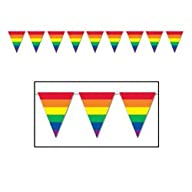 Rainbow Pennant Banner Party Accessory (1 count) (1/Pkg)