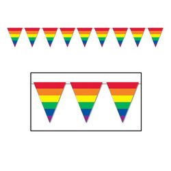 Rainbow Pennant Banner Party Accessory (1 count) (1/Pkg) - 1