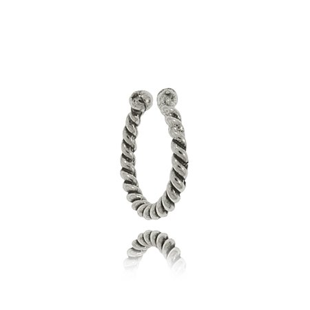 Ear Cuff Earring Sterling Silver Spiraled Wound Design