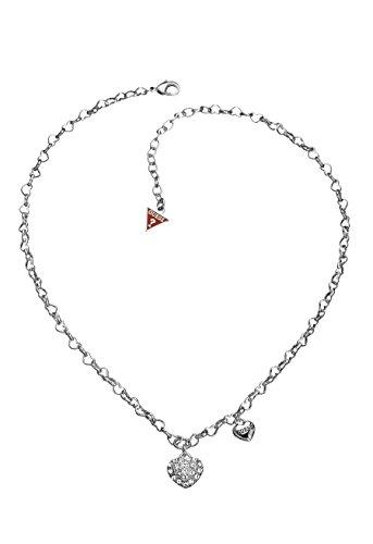 Guess Damen-Halsband Edelstahl Kristall weiß UBN81194 thumbnail