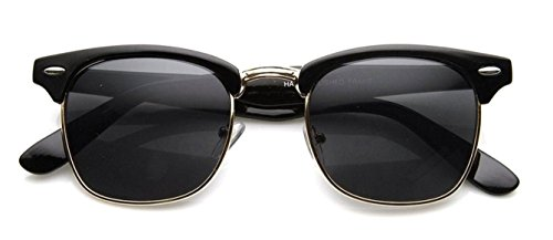Half Frame Wayfarer Horn Rimmed Sunglasses (Black Frame) (Half Rimmed Sunglasses For Women compare prices)