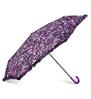 Per Una Frill Trim Butterfly Print Umbrella