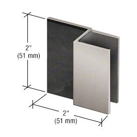 CRL Brushed Nickel Square Style Frameless Shower Door Stop (Shower Glass Door Stopper compare prices)