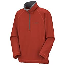 Columbia Youth Boys Tech Racer 1/4 Zip Performance Top (FLAME, 4/5)