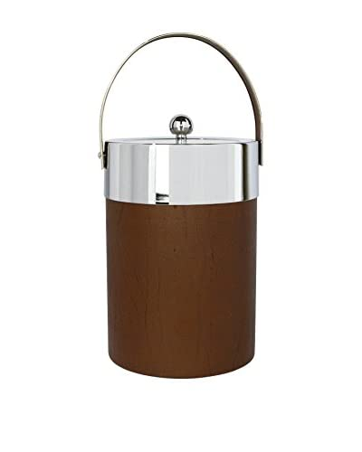 Uptown Down 1960 Acrylic Ice Bucket , Brown/Silver