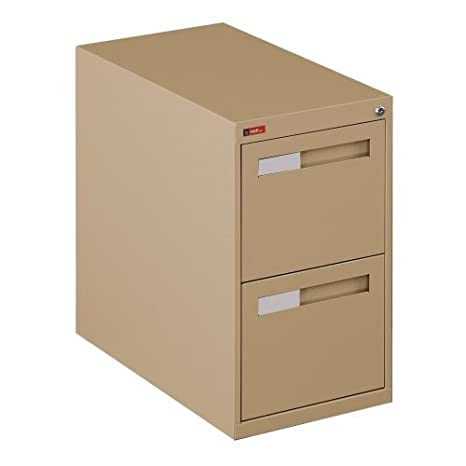Two-Drawer Letter Size Vertical File Cabinet, Black - Specturm Collection