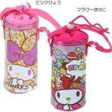 [My Melody]Pink plastic bottle holder insulated holder case Leopard