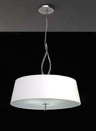 Ninette Pendant 4 Light Polished Chrome White Amazonco