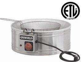 Uniworld Funnel Cake and Zeppoli Deep Fryer Vat Model UF-R20 (Uniworld Round Fryer compare prices)