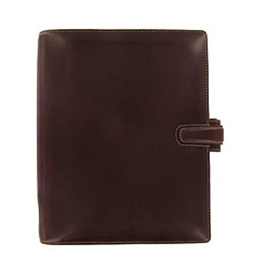 Filofax Cuban A5 Organiser Italian Leather Brown Ref 024870