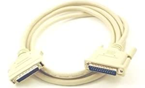 Micro Connectors, Inc. 6 feet SCSI 2 Cable HD50 Male to DB25 Male (M03-119)