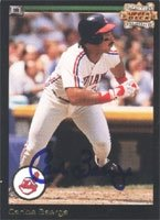 Carlos Baerga Cleveland Indians 1993 Upper Deck Anniversary Autographed Hand Signed... by Hall+of+Fame+Memorabilia