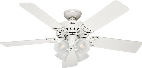 Hunter Fan Company 20181 52 Inch Studio Series Ceiling Fan White with Bleached Oak Blades