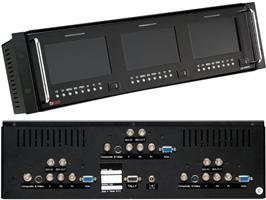 Triple 5In; High Definition Universal Lcd Monitor With Audio In A Rackmount Frame, Tv One Lm-503Hda