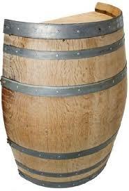 Oak wood Split Wine Barrel Stand, 26