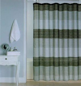Ombre Jewel Shower Curtain Black Silver