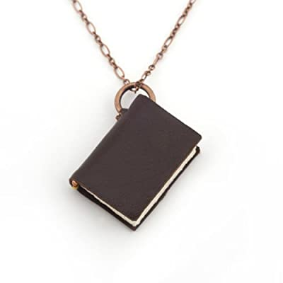 Book Charm Necklace by Peg and Awl - Large, Copper