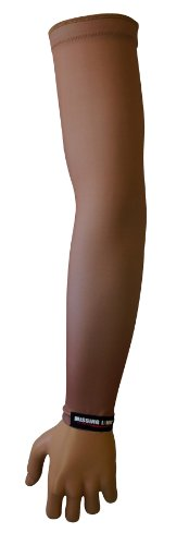 Missing Link SPF 50 Skin 3 ArmPro Compression Sleeve (Beige, X-Large)