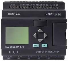 Elc18 - 12/24Vdc Programmable Logic Controller 12 Dc Input, 8 Analog, 6 Relay Output, Expandable