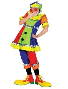 Spanky Stripes Female Clown Adult Costume Size 14-16 Large