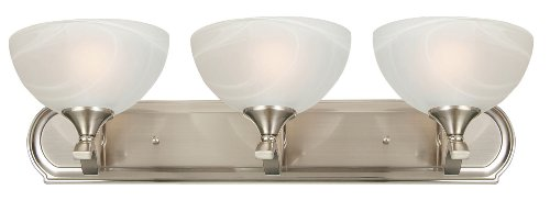 Vanity Lights Cyber Monday : Black friday Yosemite Home Decor 1393SN Glacier Point 24-Inch 3-Light Vanity, Satin Nickel Cyber ...