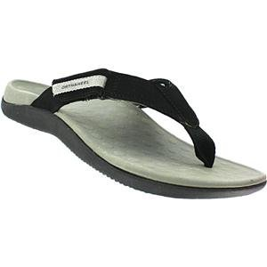 Orthaheel Sandal Mens Adjustable Ryder Flip Flop Black Size 13 front-20477