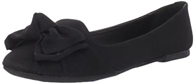 Madden Girl Women's Hyppe Flat,Black Fabric,9 M US