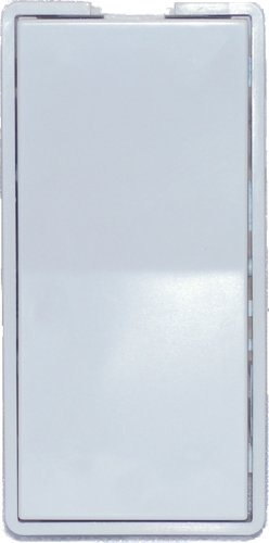 Simply Automated ZS11-W Custom Series Single Faceplate, White