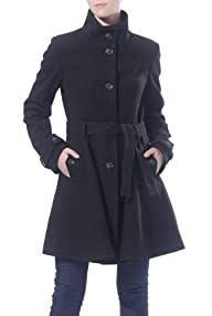 Jessie G. Women's 'Farrah' Wool Blend Fit And Flare Belted Coat