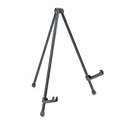 Universal Portable Tabletop Easel, 14 Inch High, Steel, Black