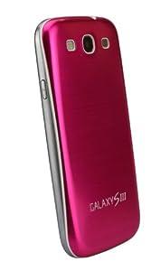 xubix Full Metal Akkudeckel für Samsung i9300 Galaxy S3 Peach pfirsischfarben brushed Metall Aluminium mit dezent weißem Rand