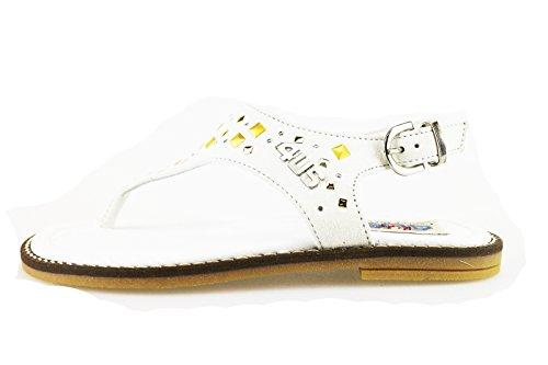 CESARE PACIOTTI 4US sandali bambina rosa fucsia bianco camoscio (37 EU, Bianco)